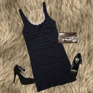 TOPSHOP BLACK BODYCON DRESS